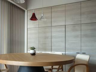 有限会社アルキプラス建築事務所 Comedores de estilo minimalista