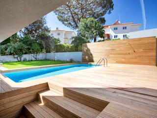 MA.TERIA. ARCHITECTURE SOLUTIONS Garden Pool Wood Brown