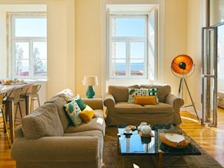 Eclectic style living room by MA.TERIA. ARCHITECTURE SOLUTIONS Eclectic