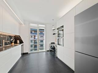 Filippo Zuliani Architetto 置入式廚房 磁磚 White