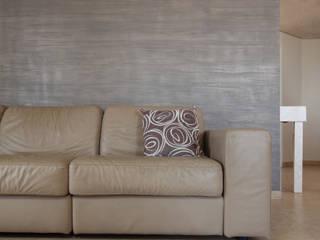 PITTURE MATERICHE antonio felicetti architettura & interior design Sala da pranzo moderna