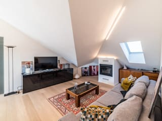 CC-ARK - SERENA&VALERIA Livings de estilo moderno Madera Blanco