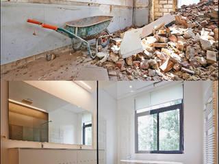 Ristrutturazioni edili EDIL MAVI costruzioni Soggiorno moderno Bianco
