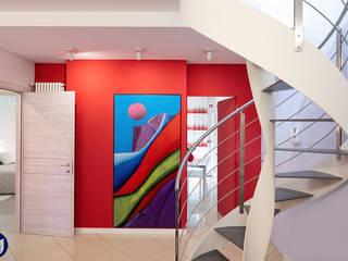 Carla Gatto Moderne Wohnzimmer Rot
