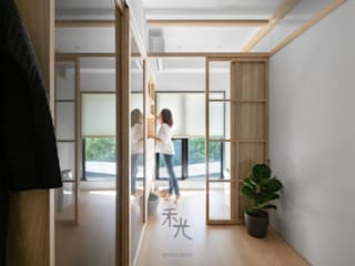 禾光室內裝修設計 ─ Her Guang Design Sliding doors Solid Wood Wood effect