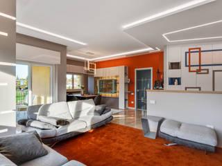 RESTYLING COMPLETO DI UN APPARTAMENTO IN PROVINCIA DI VARESE Angela Archinà Progettazione & Interior Design Soggiorno eclettico