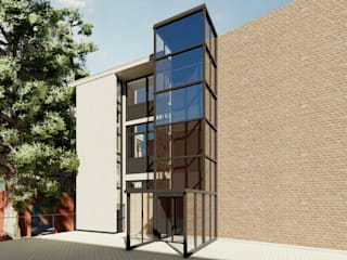 Aufzug Schachtgerüst ESwin Architektur Moderne Häuser