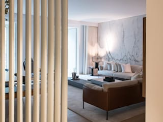 Apartamento | Avenida da Liberdade| Portugal Atelier Renata Santos Machado Corredores, halls e escadas modernos
