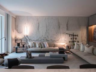 Apartamento | Avenida da Liberdade| Portugal Atelier Renata Santos Machado Salas de estar modernas