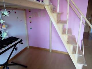 Home 'N Joy Remodelações Kamar tidur anak perempuan Kayu Wood effect