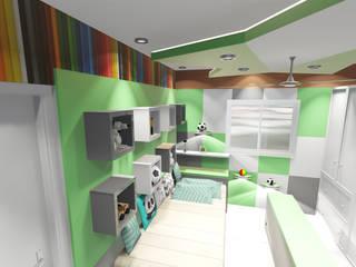 Apartamento de Cobertura Hitalli e Eron - Parte Interna Padilha Arquitetura e Urbanismo Quarto infantil moderno
