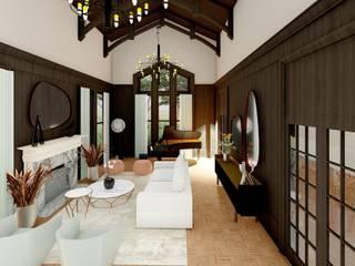 Design italiano in una casa stile Tudor Soggiorno eclettico di Teresa Romeo Architetto Eclettico