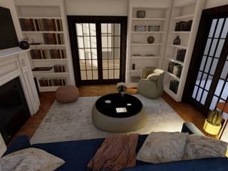 Teresa Romeo Architetto Livings de estilo minimalista Madera Blanco