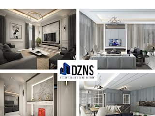 DZNS Design Studio & Construction Living room White