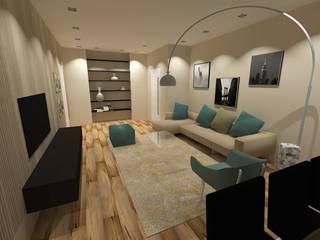 PROGETTO DI RESTYLING & INTERIOR DESIGN COMPLETO DI UN APARTAMENTO AD ARESE Angela Archinà Progettazione & Interior Design Soggiorno minimalista