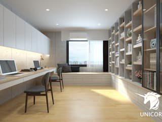 Unicorn Design Eclectic style study/office