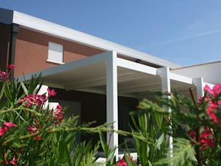 unica living design Lean-to roof Aluminium/Zinc White