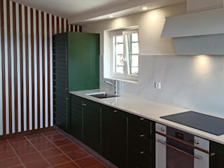 Obr&Lar - Remodelação de Interiores Small kitchens MDF Green