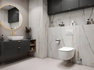 Domni.pl - Portal & Sklep Eclectic style bathroom Ceramic White