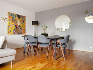 Dining table area Rebel Designs Modern dining room Multicolored