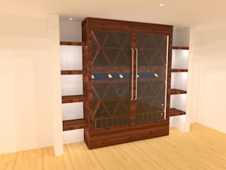 Volo Vinis Wine cellar Solid Wood Wood effect