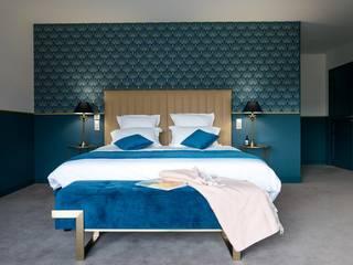 Chambre d'hôtes style art déco Nuance d'intérieur Lieux d'événements modernes Bleu