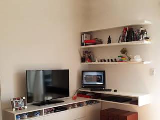 Modulor Mobiliario y Arquitectura Ruang Studi/Kantor Modern White
