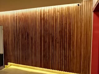 wooden house mx Dinding & Lantai Modern