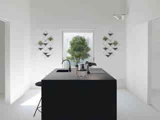 Altro_Studio Minimalist kitchen Wood White