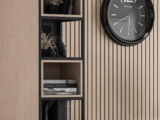 Home Office Deev Design Minimalistische studeerkamer Hout Hout