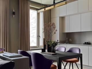 Дизайн бюро Татьяны Алениной Ruang Makan Modern Beige