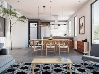 DELTA Scandinavian style dining room White