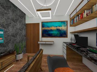 Arquitectura Tiempo & Espacio EstudioIluminación Madera Blanco