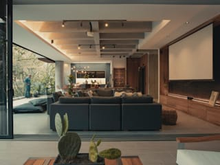 Adrede Diseño Living room Concrete Grey