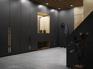 Domni.pl - Portal & Sklep Modern Corridor, Hallway and Staircase Ceramic Black