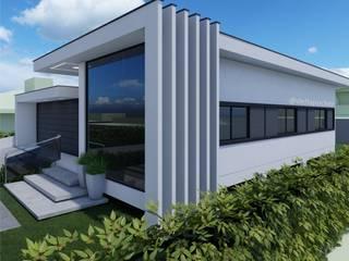 RESIDÊNCIA B/W Casas modernas por Della&Pucker - Eng. Civil e Arquitetura Moderno