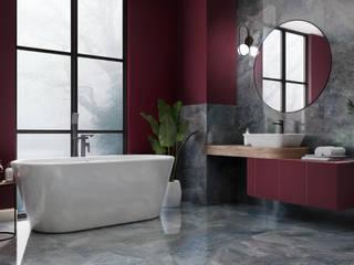 Domni.pl - Portal & Sklep Modern Bathroom Ceramic Red
