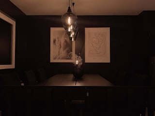 Stylish Open plan living room, London STAAC Modern dining room Wood Black