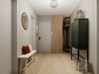 Innenarchitektur Federleicht Modern corridor, hallway & stairs Grey
