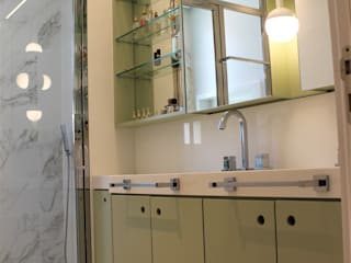 Geraldo Brognoli Ludwich Arquitetura Modern Bathroom MDF Green