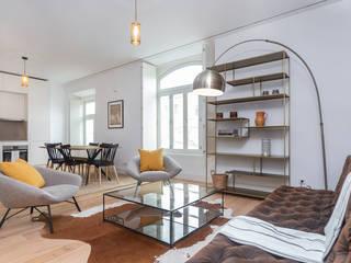 Fotorreportagem de Apartamento em Lisboa Salas de estar modernas por HOUSE PHOTO Moderno