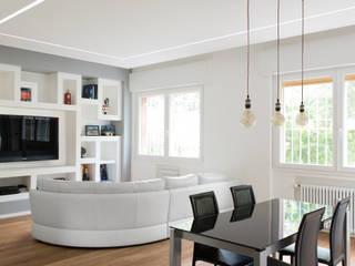 Andrea Orioli Salon minimaliste Béton Gris