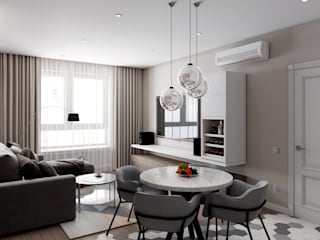Anastasia Yakovleva design studio Living room Wood Brown