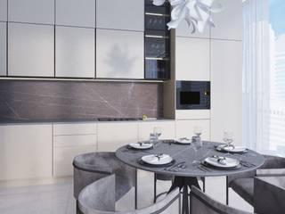 Anastasia Yakovleva design studio Built-in kitchens Wood Beige