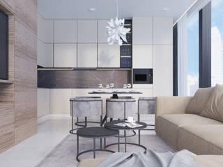 Anastasia Yakovleva design studio Kitchen Wood Beige