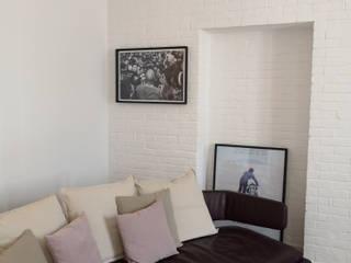 Studio Zay Architecture & Design Salones de estilo moderno Mármol Blanco