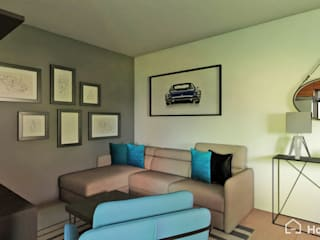 Condominio Club de Golf Santa Sara, Batuco, RM, Chile Gabi's Home Livings de estilo minimalista Azul