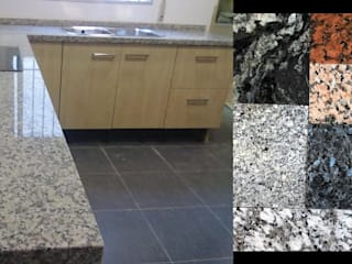 Mystica Cocinas y Closets KitchenBench tops Granit Grey