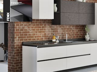 Mystica Cocinas y Closets KitchenBench tops Bahan Sintetis Black