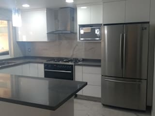 Mystica Cocinas y Closets KitchenBench tops Kuarsa Grey